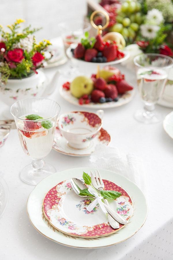 Gartenhochzeit Tischdekoration