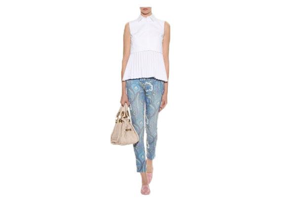 7/8 Jeans mit Print von Etro