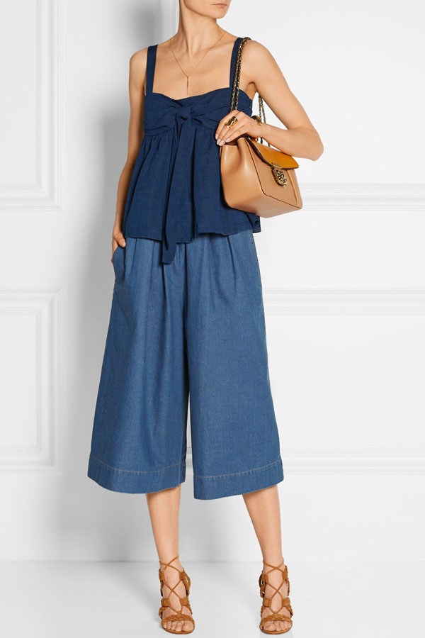 Stella McCartney  Air Force Jeans-Culottes