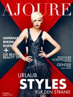 Ajouré Cover Monat August 2013