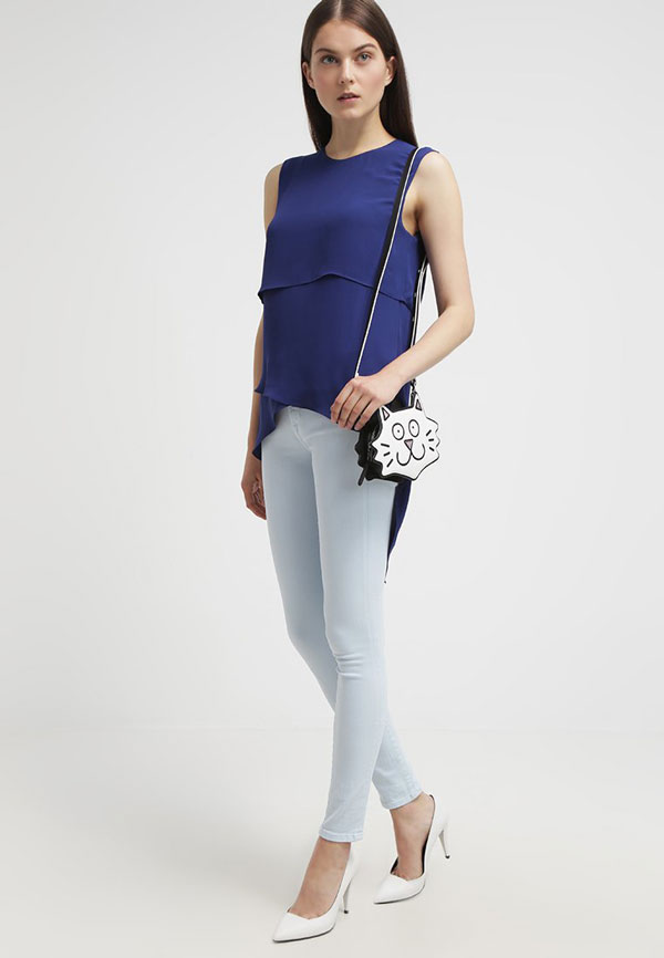 Bluse Color Blocking Trend