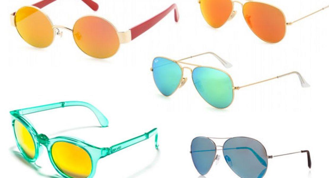Jetzt wird's bunt mit verspiegelten Sonnenbrillen