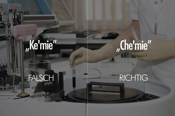 Chemie Aussprache