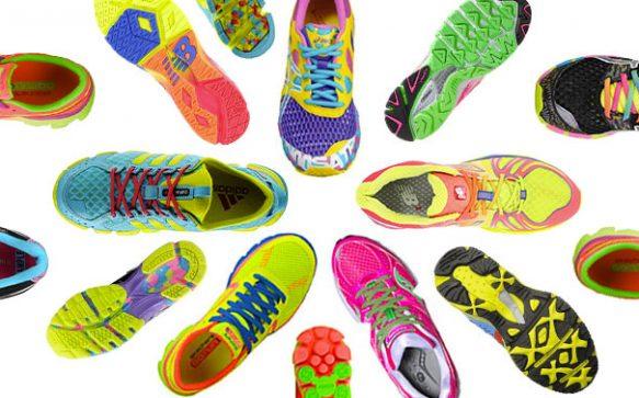 Schriller geht's kaum noch – knallbunte Neon-Sneakers