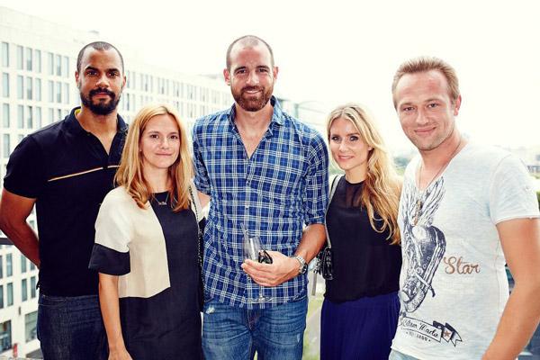 Patrice Bouédibéla, Anja Tillack, Christoph Metzelder, Isabelle Mercedes, Andrej Riemer (Bullets4Peace)