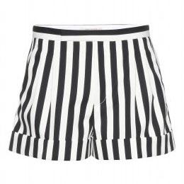 schwarz-weiß gestreifte Shorts von Marc Jacobs