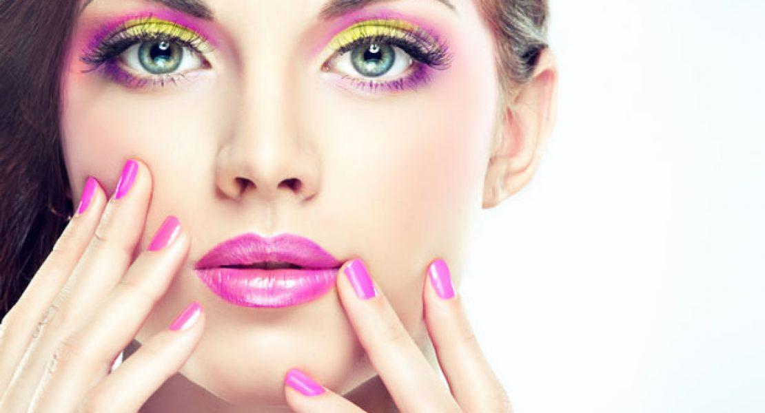 Auffälliges Make-up in Neon