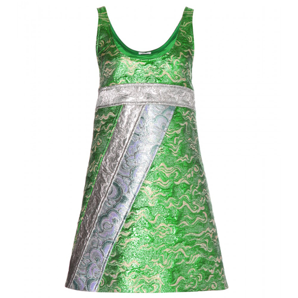 miu-miu-kleid-metallic-grün
