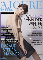 AJOURE´ Cover Monat November 2014