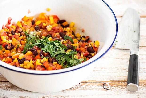 Salsa Vegetable mit Maistortillas #lowcarb #veggy #vegan