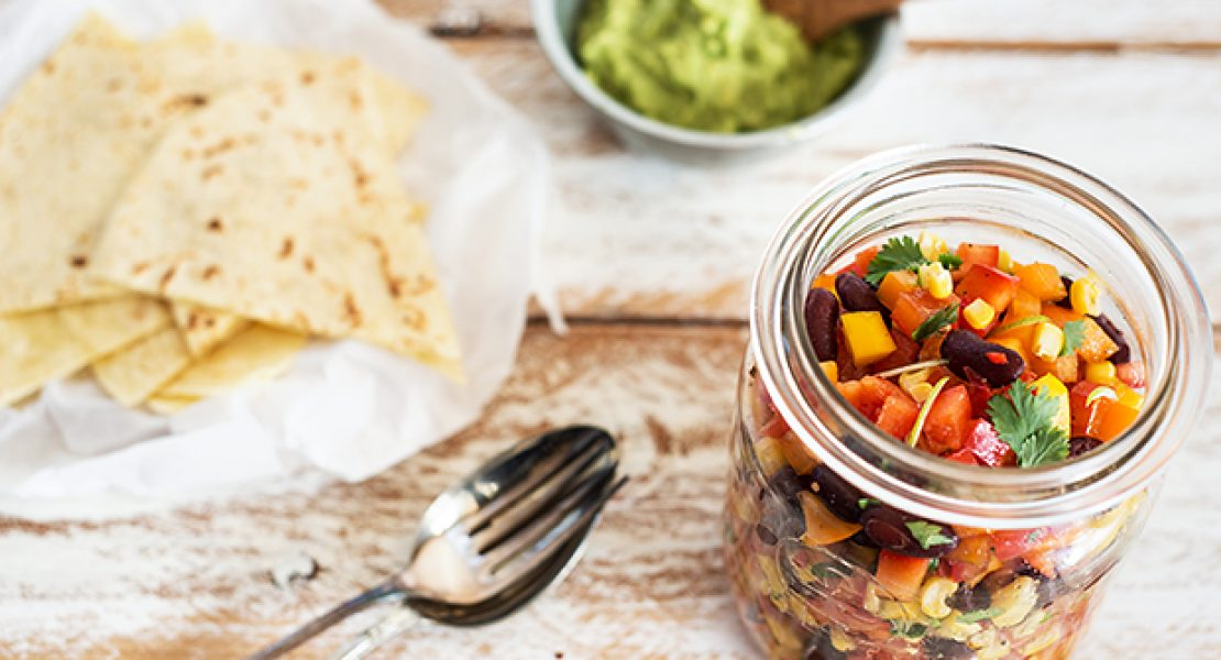Salsa Vegetable mit Maistortillas