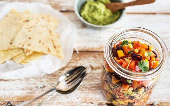 Salsa Vegetable mit Maistortillas
