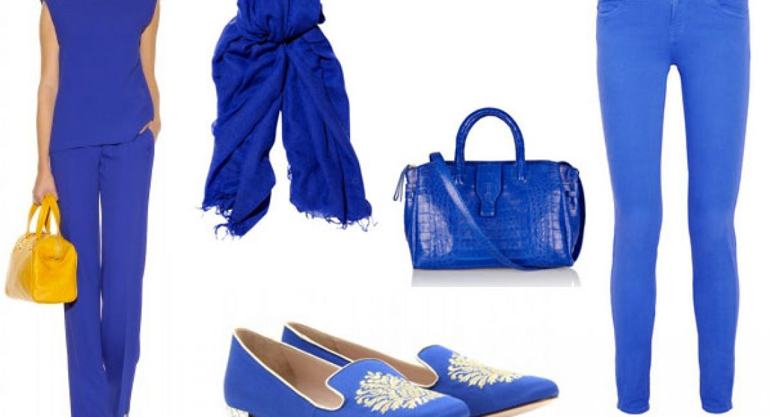 Elektrisierendes Blau mit der Trendfarbe electric blue