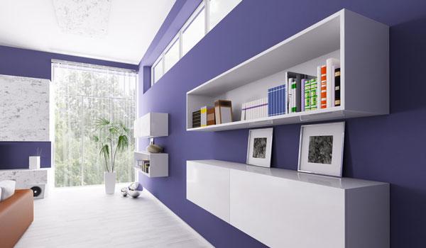 Die Farbe Lila im Wohntrend - So setzt du den ruhigen Farbton richtig ein.