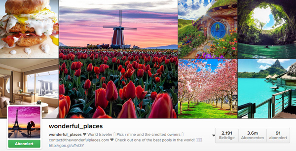 wunderful places instagram account